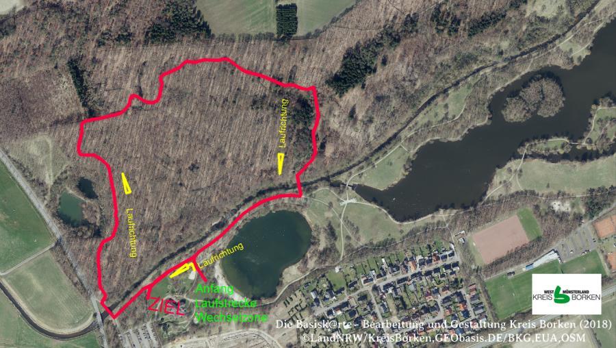 Laufstrecke Triathlon Borken