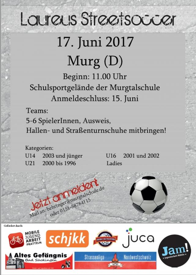Laureus Streetsoccer am 17. Juni 2017 in Murg