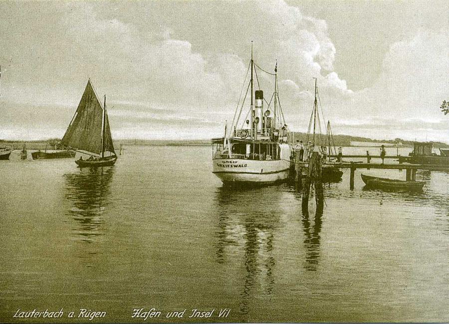 Lauterbach a. Rügen Hafen und Insel Vil