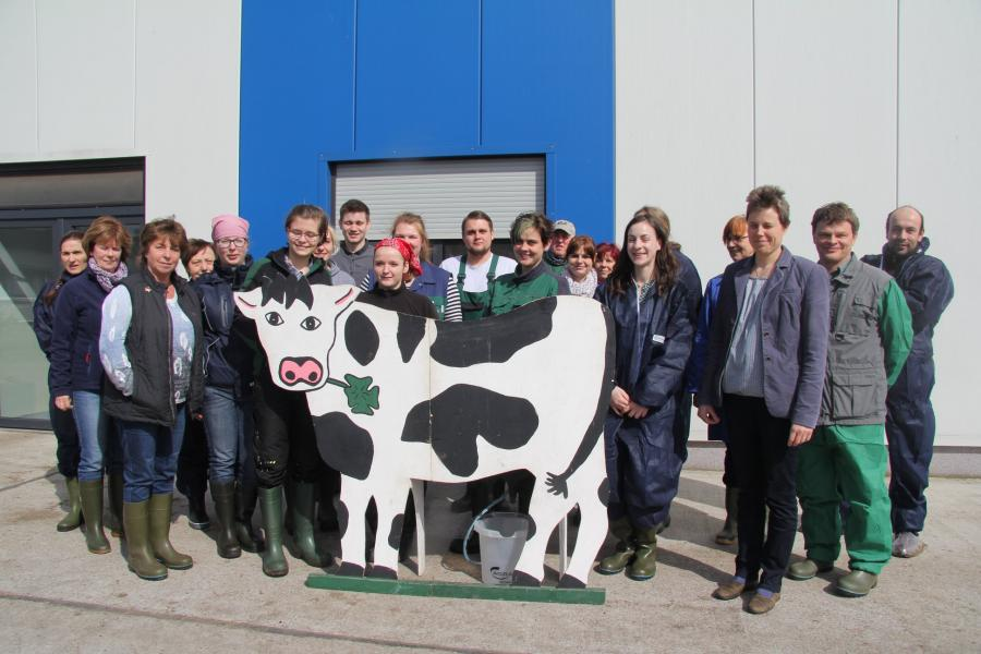 Gruppenbild Landesmelkwettbewerb in Platkow (Bildautor: LBV)