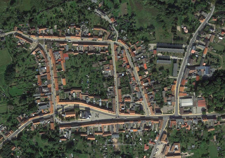 Luftbild Historischer Stadtkern Liebenwalde (Aufnahme von 2014)