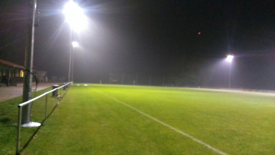 LED-Beleuchtung auf dem Sportplatz