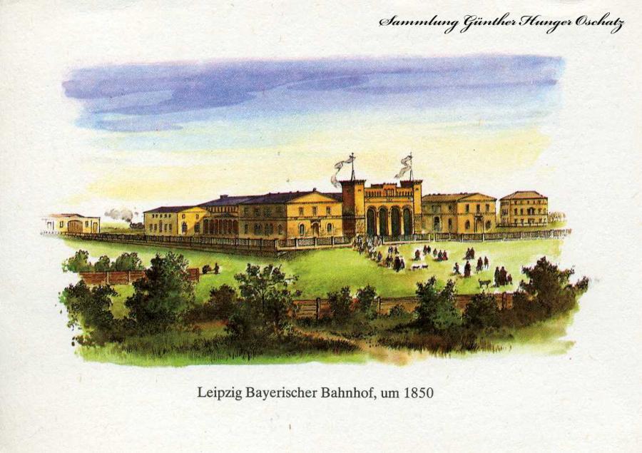 Leipzig Bayerischer Bahnhof um 1850