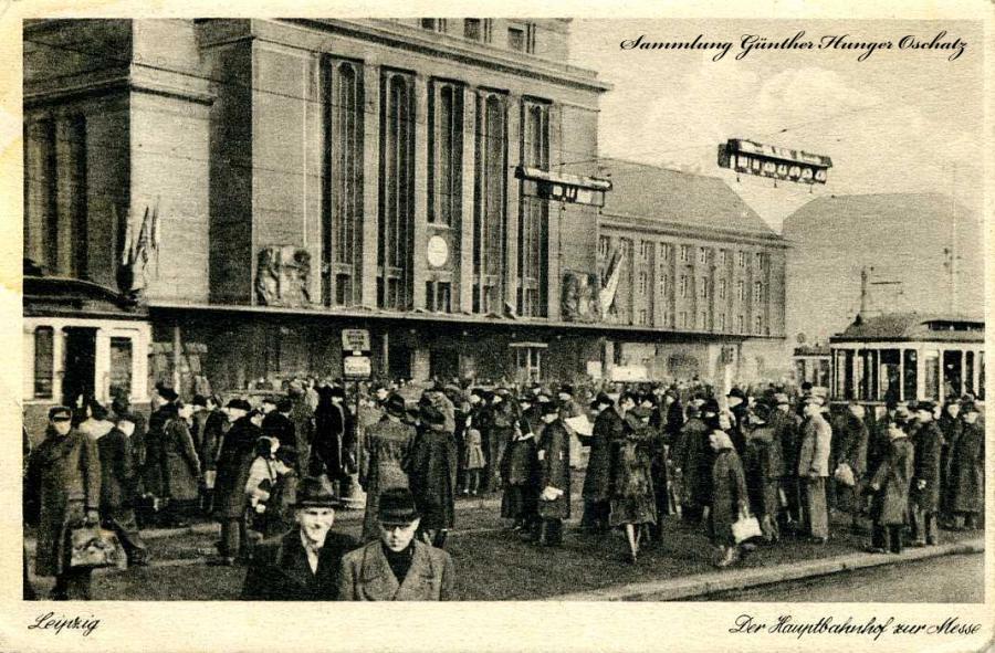 Leipzig Der Hauptbahnhof zur Messe