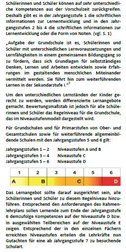 Leistungsbewertung an der Grundschule