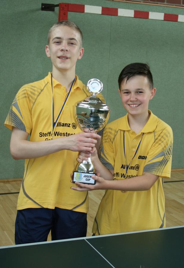Leon Meusel und Niklas Walther - Sieger des 1. Jugendcup 2016