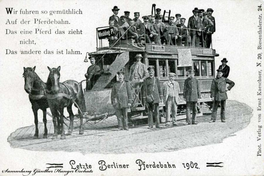 Letzte Berliner Pferdebahn 1902
