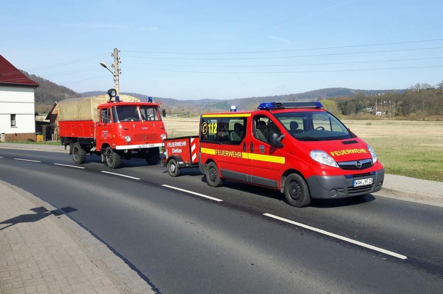 Mannschaftstransportwagen (MTW) mit Geräteanhänger (GA)