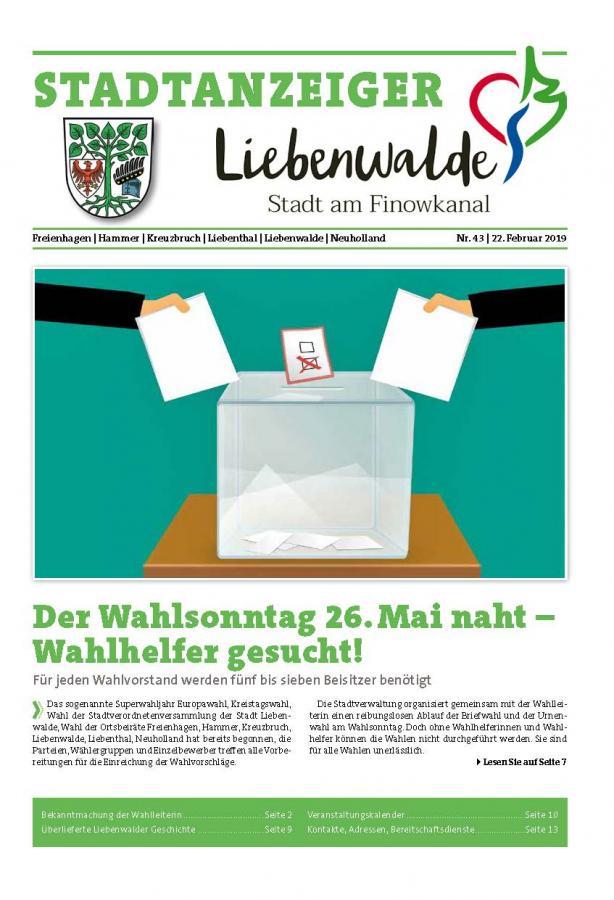 Liebenwalder Stadtanzeiger Ausgabe 43/2019