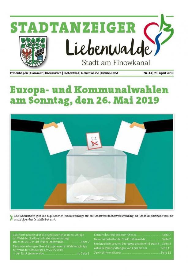 Liebenwalder Stadtanzeiger Ausgabe 44/2019