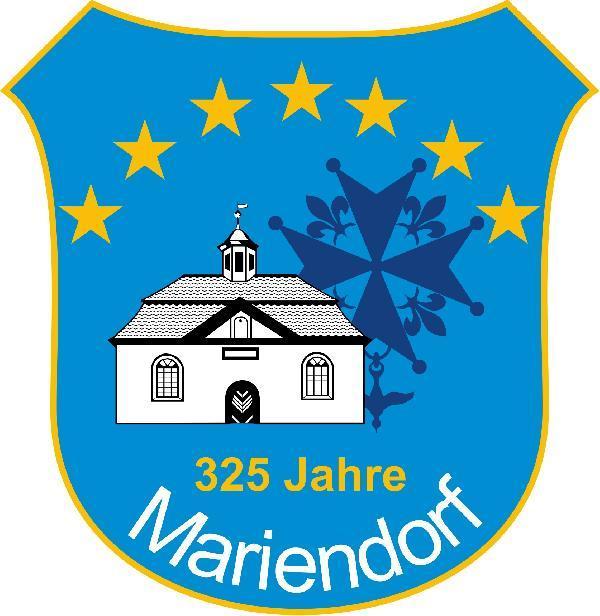 Foto: Wappen zum 325-jährigen Ortsjubiläum Mariendorf