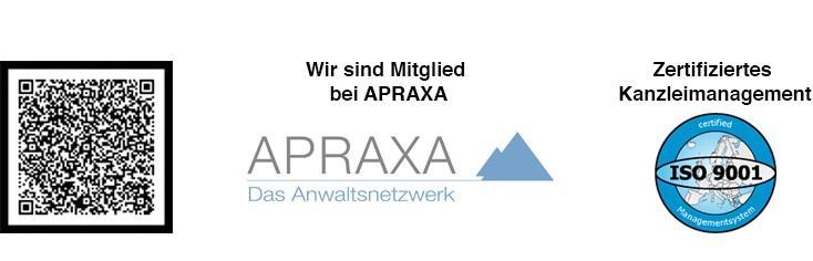 Logo APRAXA, Zertif., Code n