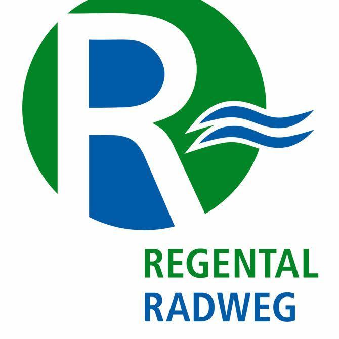 Markierung Regental-Radweg