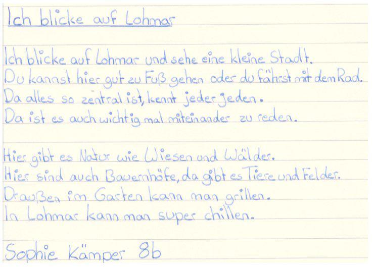 Lohmar-Gedicht