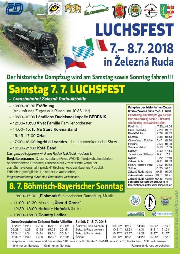 Plakat Luchsfest 2018