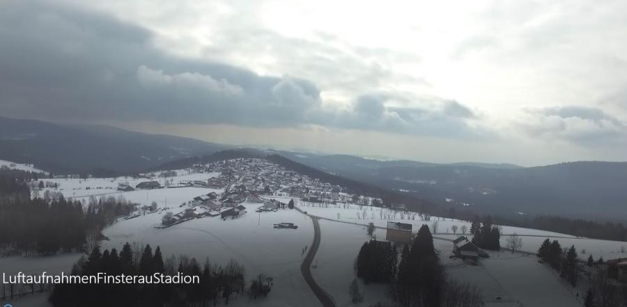 Luftaufnahme Skistadion Finsterau