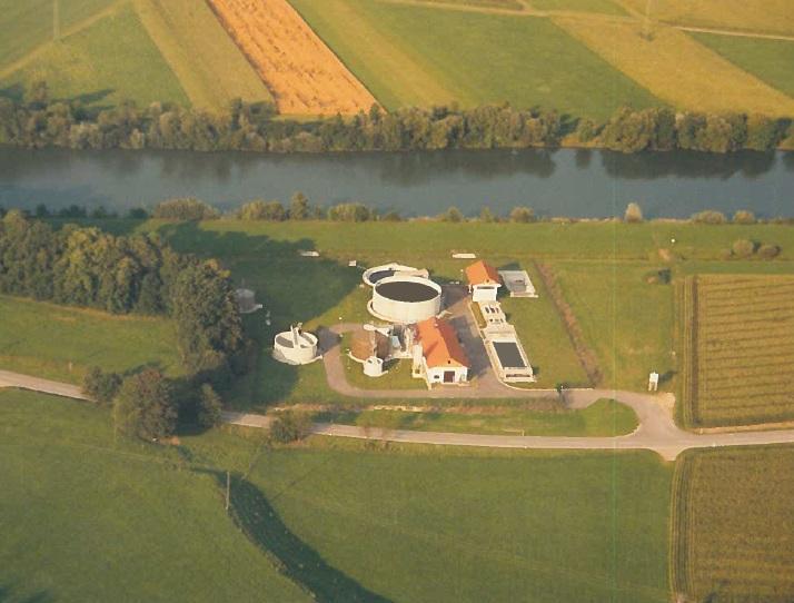 Luftbild Klärwerk Lautrach