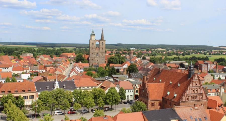 Luftbild Markt Nikolaikirche