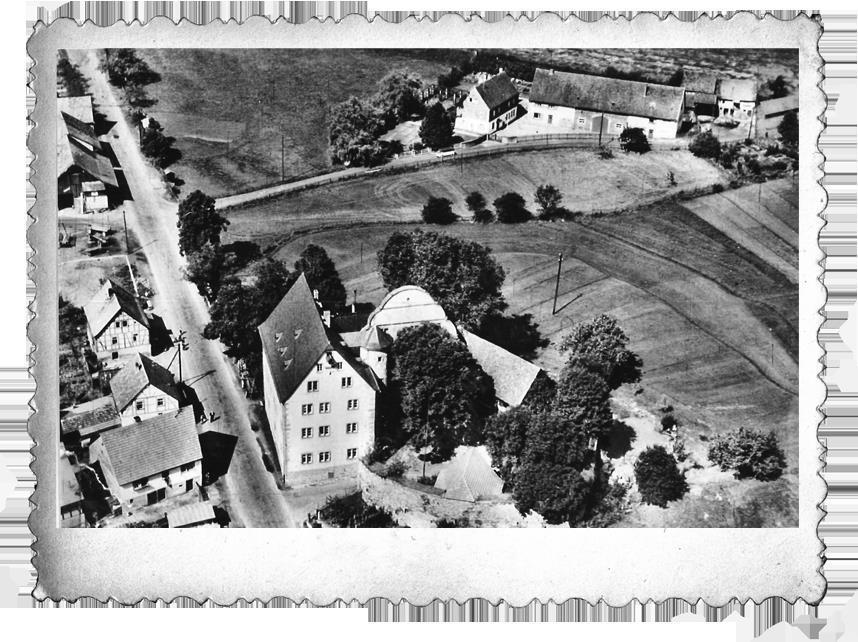 Luftbild Burgjoß Schloß Schafhof