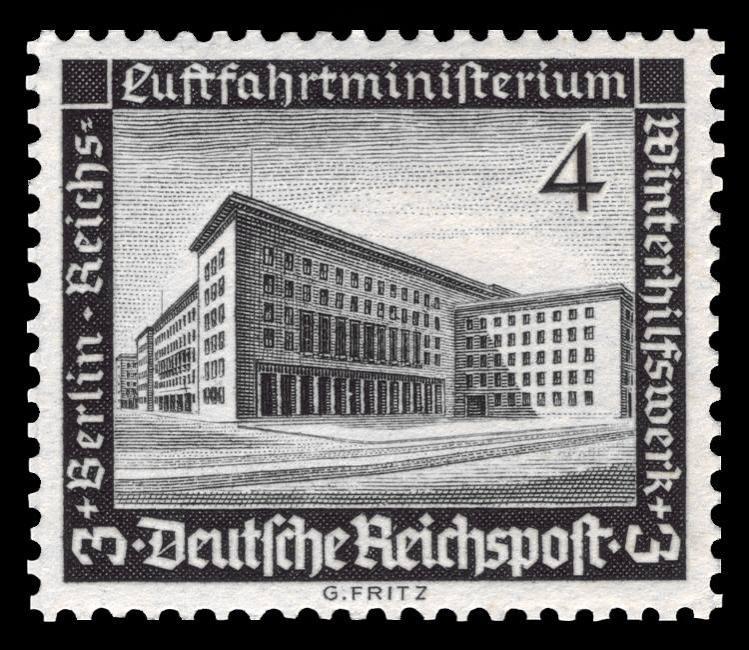 Postwertzeichen für das Reichsluftfahrtministerium in der Leipziger Str., Berlin