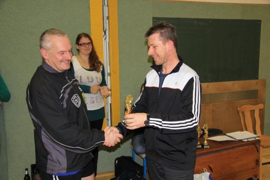 Maik Fröhlich bei der Siegerehrung - 3. Platz