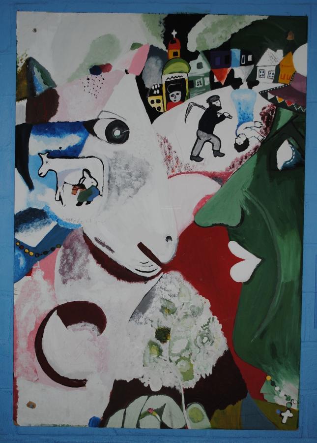 Marc Chagall, Ich und das Dorf
