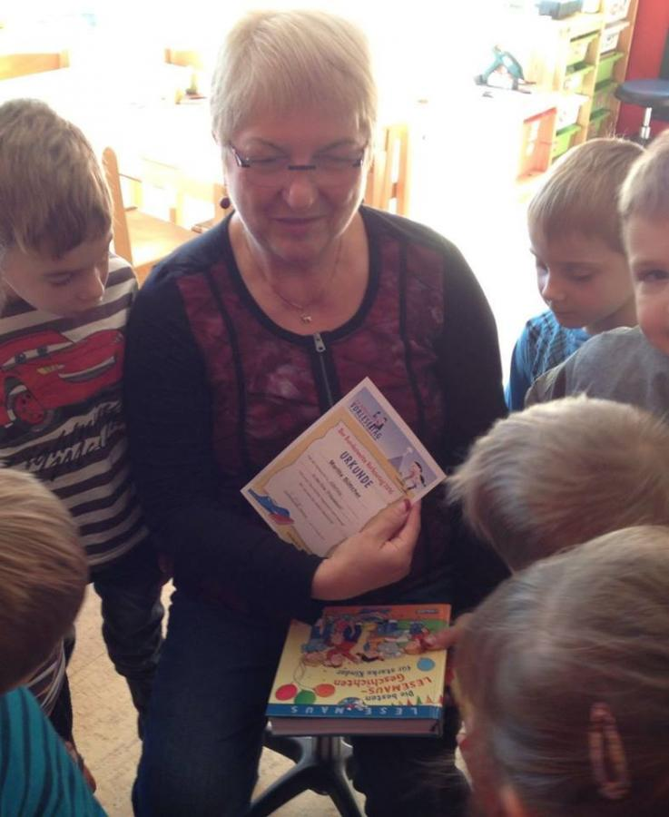 Maritta Böttcher las Lesemaus-Geschichten für starke Kinder.
