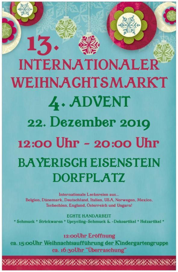 Plakat Weihnachtsmarkt 2019