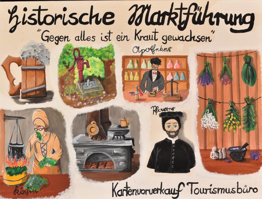 Historische Marktführung mit Schauspiel