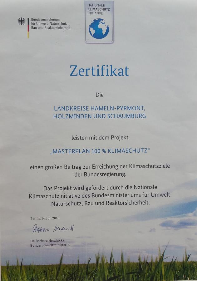 Masterplan Zertifikat