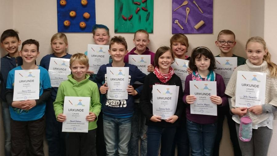 Sieger Matheolympiade Grundschule