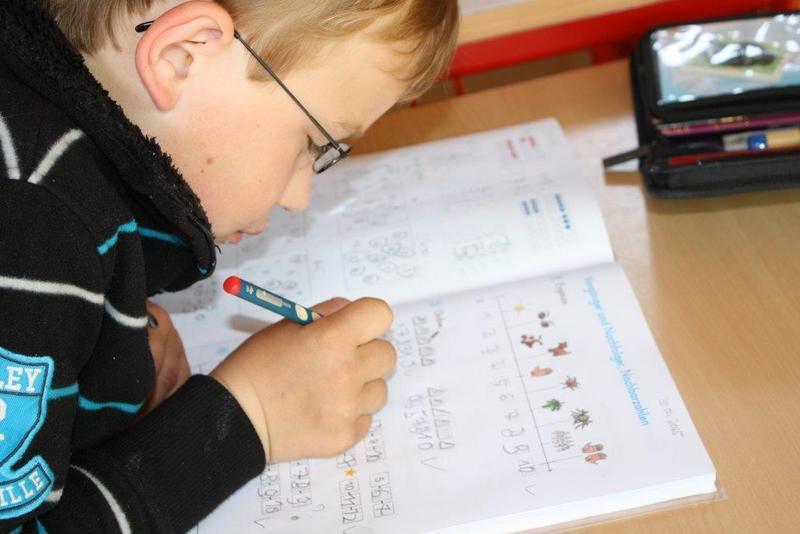 Mathematik-Arbeit mit dem Schülerheft