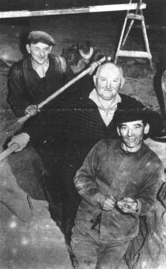 Gasrohrverlegung 1965