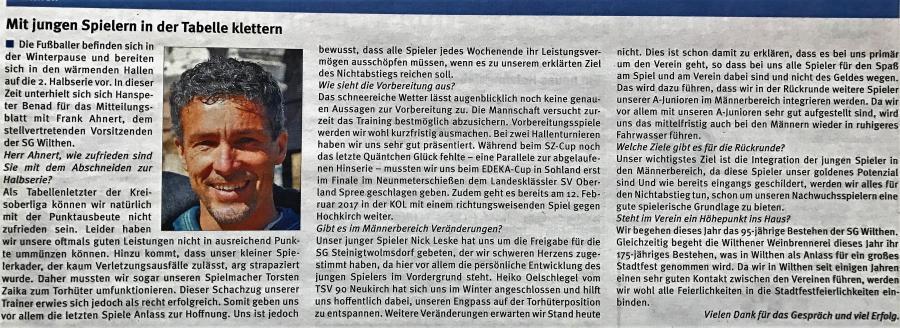 Intervieww Mitteilungsblatt KW 3/2017