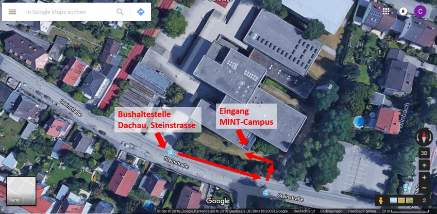 Schülerforschungszentrum Dachau Anfahrt