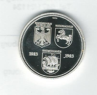 Medaille 100 Jahre Leuchtturm Roter Sand 1985