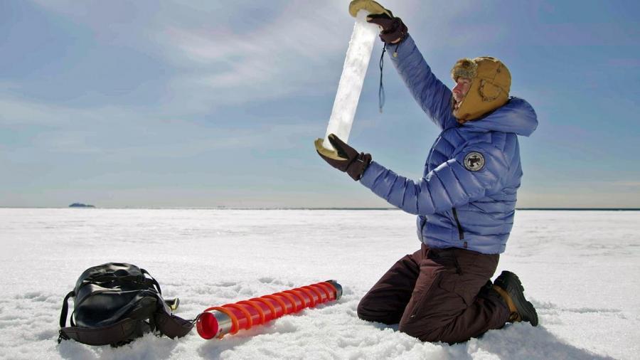 Mikroplastik an der Arktis