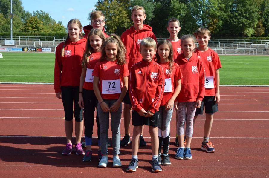 Zehn Athletinnen und Athleten des TuS Bad Essen sind beim Jugend-Kinder-Sportfest des SV 1860 Minden gestartet