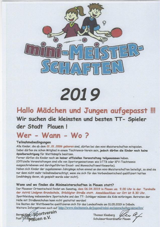 mini-Meisterschaft 2019