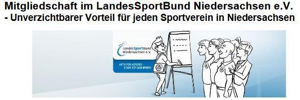 Mitgliedschaft im LSB Niedersachsen