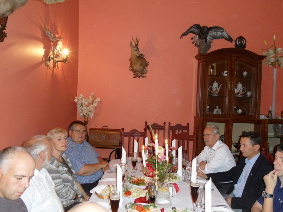 Begrüßung der Gäste in Milomlyn