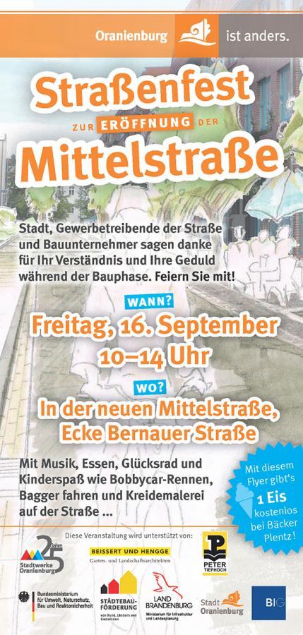Eröffnungsfest Mittelstraße 2016