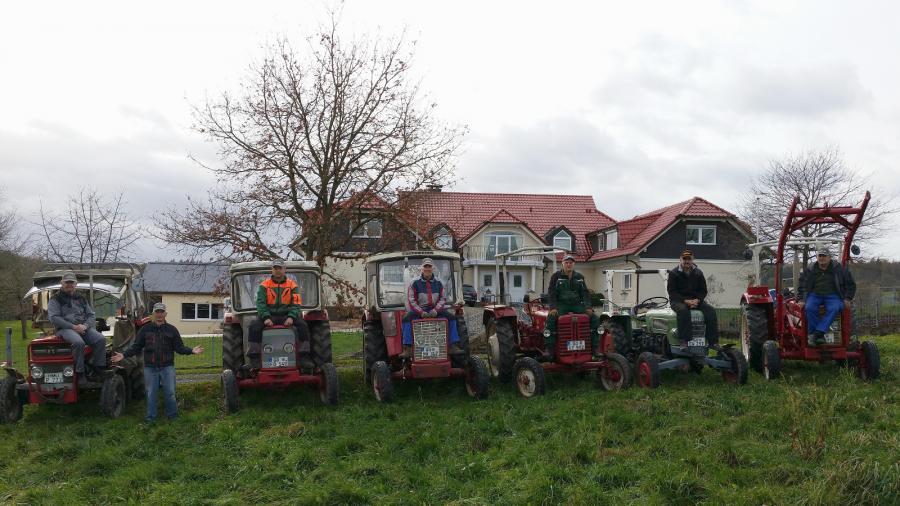 Mobile Eingeiftruppe mit Fuhrpark