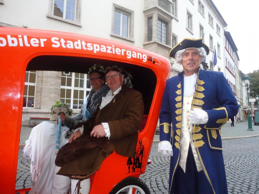 Stadtrundfahrt mit Goethe