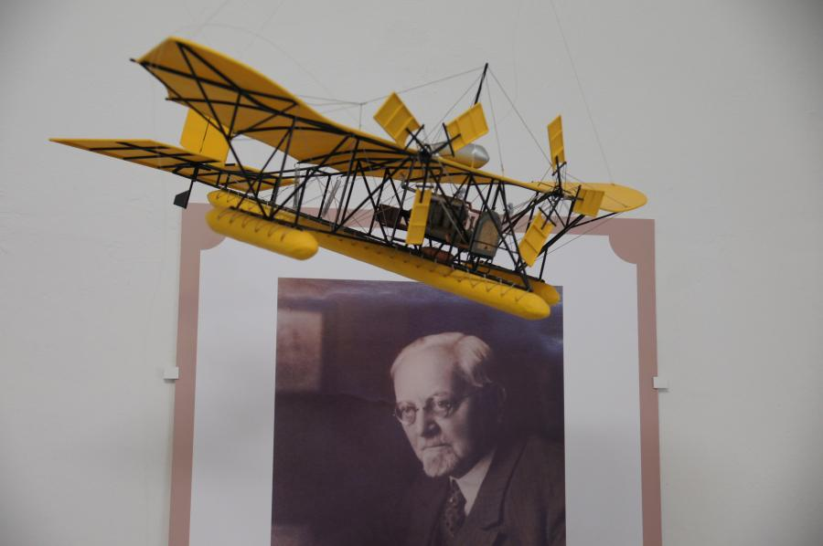 Modell des Wasserflugzeugs von August von Parzeval