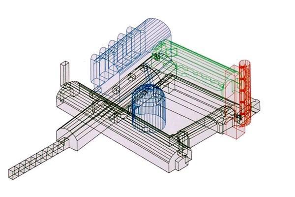 Modell der Eiskelleranlage.