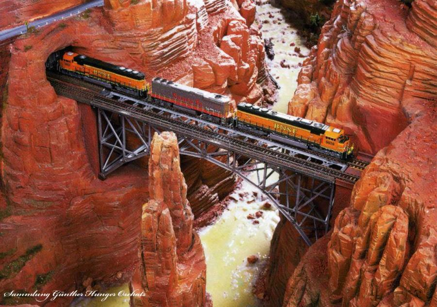 Modelleisenbahn Trestle Bridge im Grand Canyon