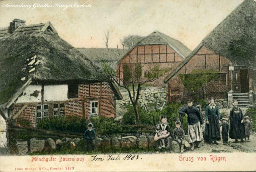Mönchguter Bauernhaus Gruss von Rügen