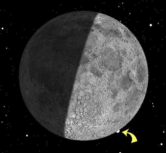 Mond bedeckt Aldebaran am 23.02.2018