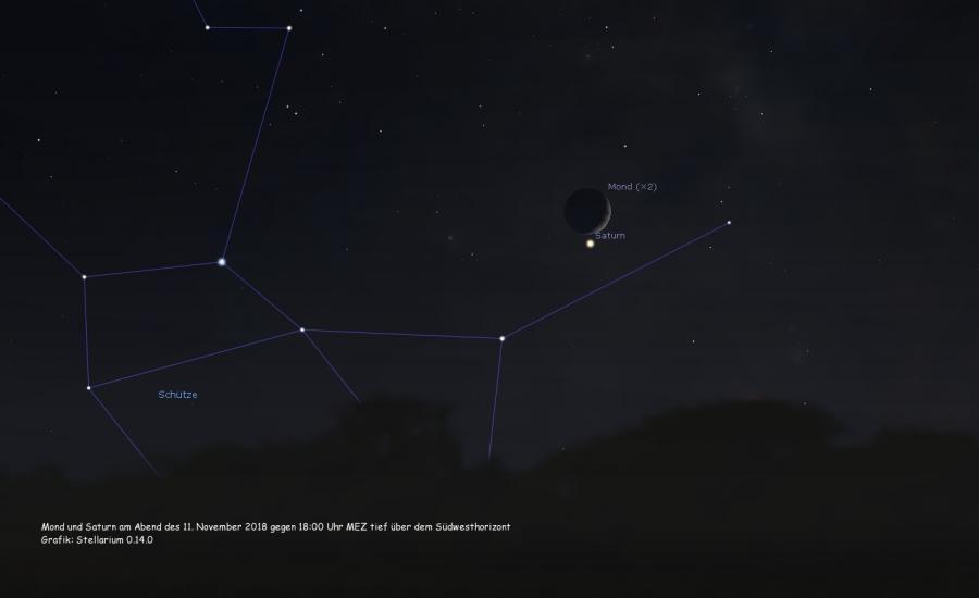 Mond und Saturn am 11.11.2018